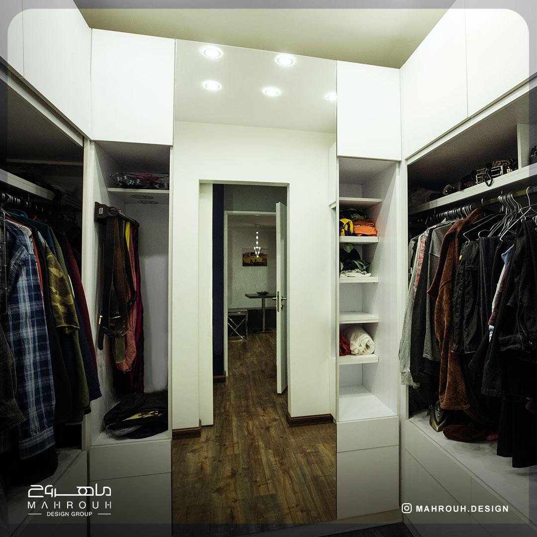 دکوراسیون اتاق لباس